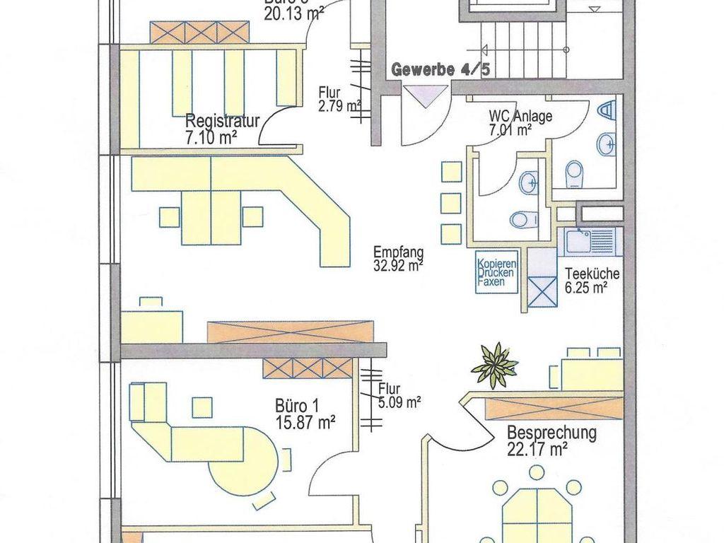 Teeküche büro grundriss  Moderne Büro- bzw. Praxisräume in Senden