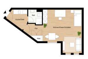 1 Zimmer Wohnung in Wuppertal