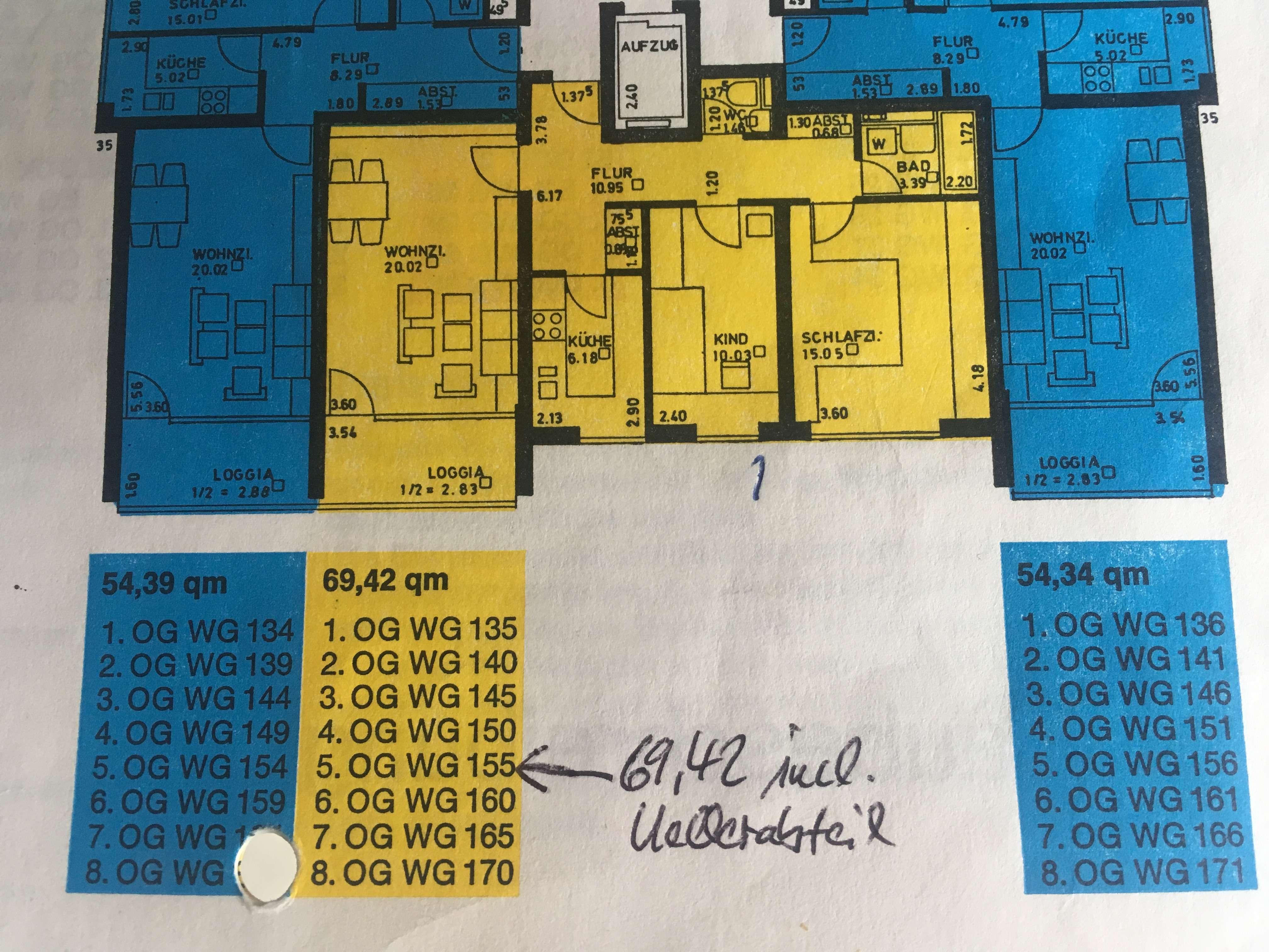 Neu renovierte schöne drei Zimmer Wohnung in München (Kreis), Unterföhring