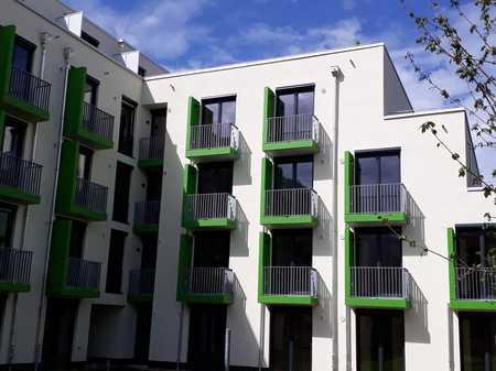 590 €     18.63m²     1 Zi.  NEUBAU-Apartment NUR für Studenten/Azubis. Erstbezug mit EBK und Balkon in Freimann (München)