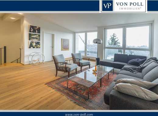 Moderne Dachgeschoss-Maisonette mit sensationellem Skylineblick