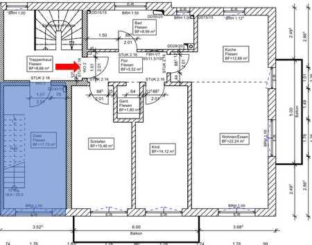 freundliche 3-Zimmer-Wohnung inkl. Küche, 2x Balkon, Kellerraum in Ampfing in Ampfing