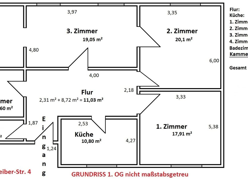 GRUNDRISS 1. OG.