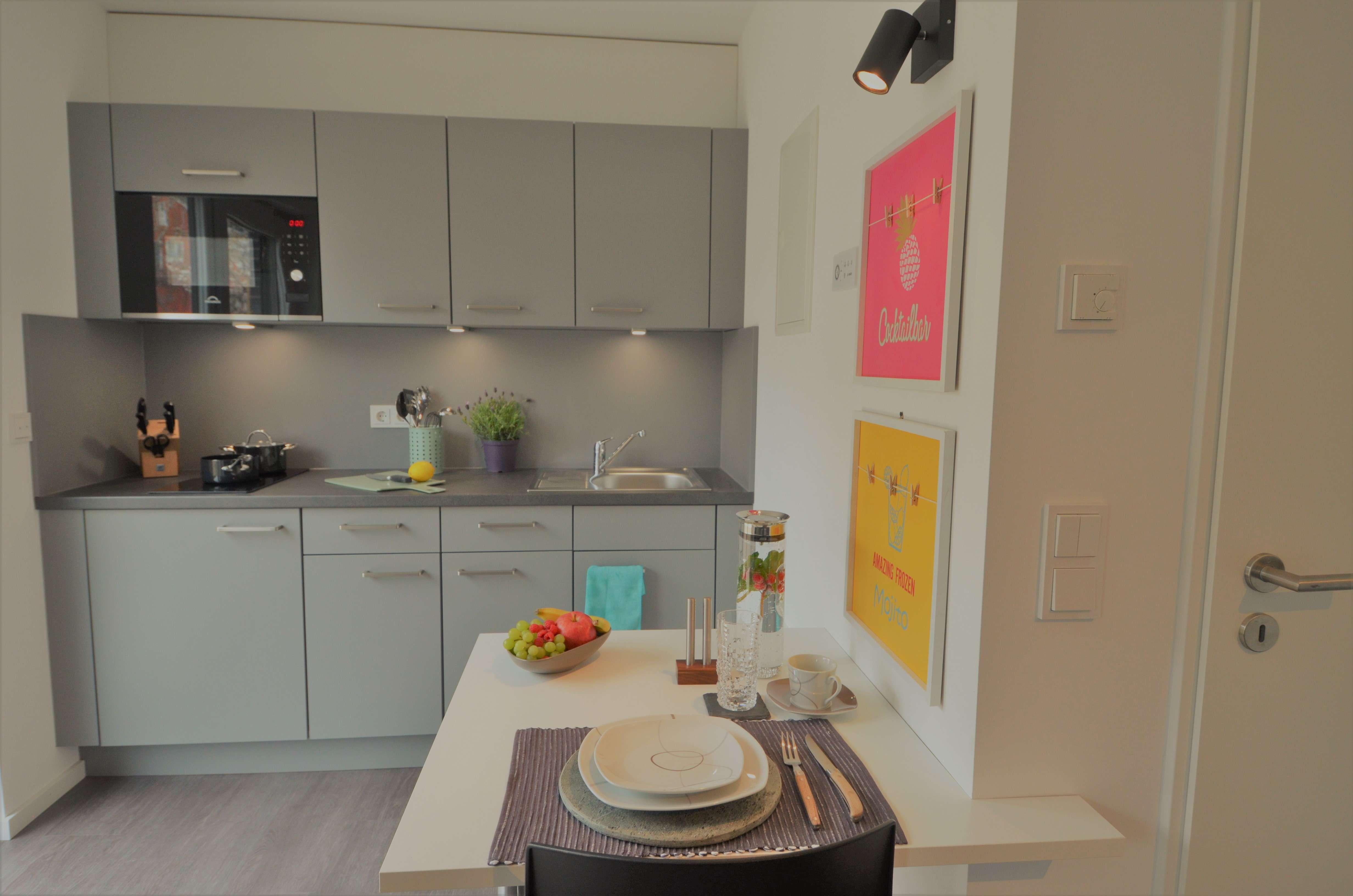 Voll Möbliertes Apartment mit Küche für Studenten und Auszubildende -