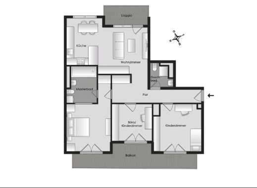 Sonnige, stilvolle, neuwertige 4-Zimmer-Wohnung mit Balkon und EBK in Freimann, München