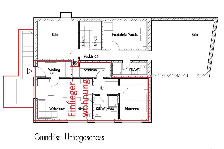 Erstbezug: schöne 2-Zimmer-Wohnung in Wolfersdorf