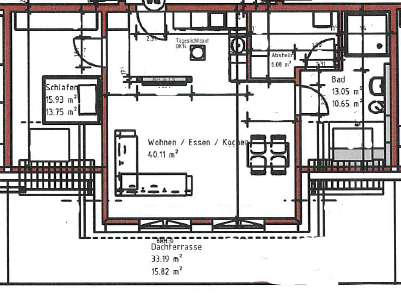 Erstbezug: Exklusive 2-Zimmer-Neubau-Wohnung mit großer Dachterrasse und Einbauküche in Weetzen