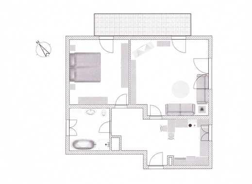 Exklusive 2-Zimmer-Wohnung mit Einbauküche und Balkon in Markt Schwaben