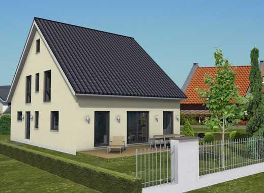 Dieses Grundstück ist für ein Einfamilienhaus oder auch für ein Doppelhaushälfte geeignet