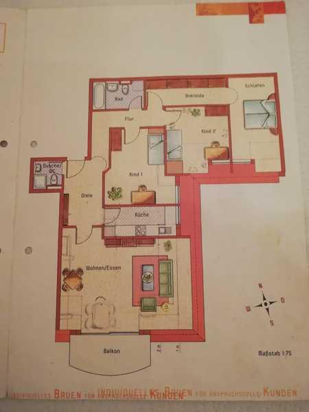 Renovierte helle 4-Raum-DG-Wohnung mit Balkon und EBK in München-Berg am Laim in Berg am Laim (München)