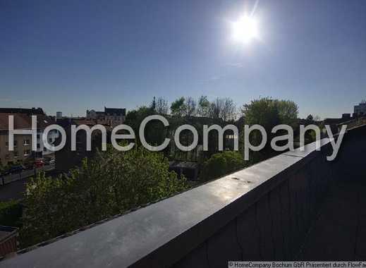 Bochum südliche Stadtmitte: stilvolle 100m²-Wohnung mit Parkett und Dachterrasse