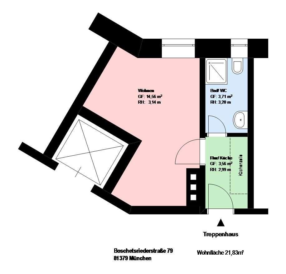 *Obersendling*1-Zimmer Wohnung*EBK*möbliert*Bad mit Dusche* in Obersendling (München)