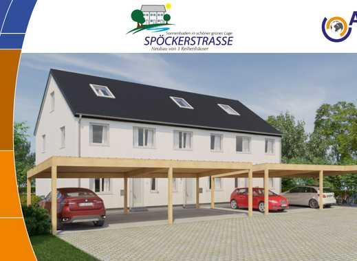 Reihenendhaus Nr. 3, 134 m² Wfl, Carport, großer Garten ca. 160m², Blick ins Grüne