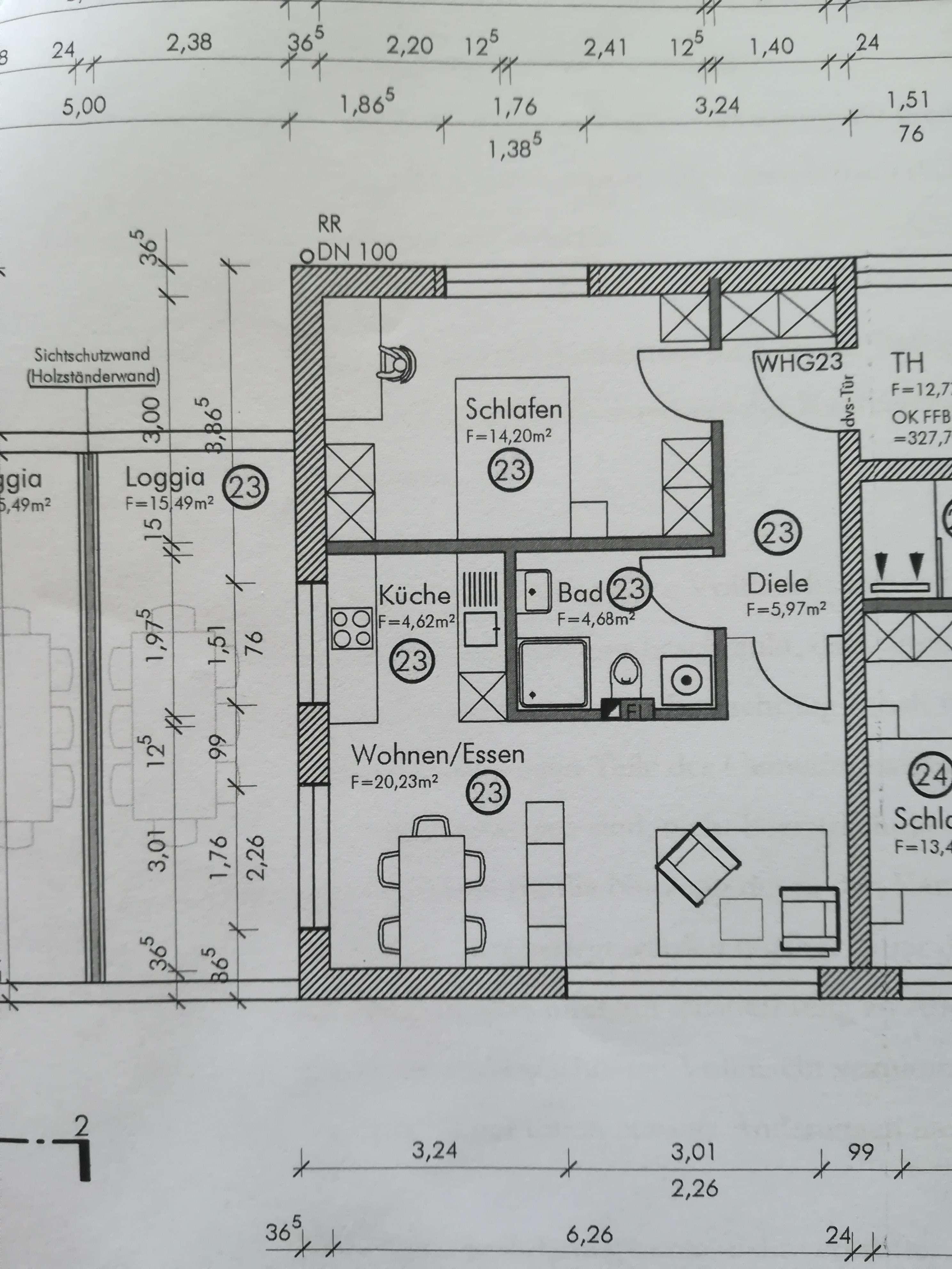 Neuwertige 2-Zimmer-Wohnung mit Balkon und EBK in Straubing