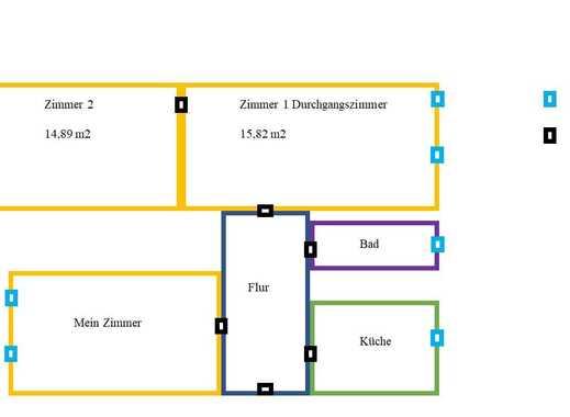 2 Zimmer in 3er WG in der Südlichen Mühlenvorstadt ab 06.12.2018 frei