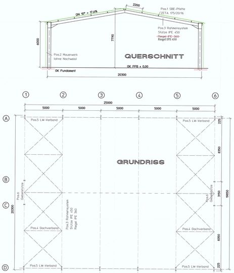 Grundriss und Querschnitt