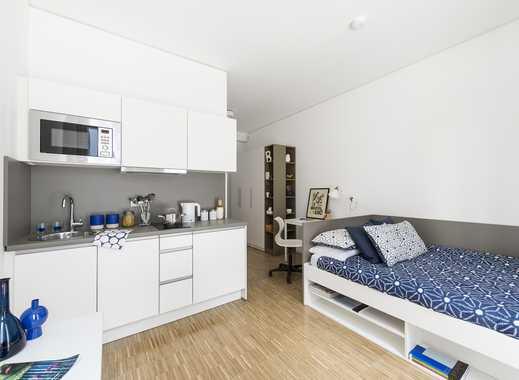 ERSTBEZUG: Komplett möbliertes, modernes Apartment auf Zeit im Herzen Frankfurts (21 m²)