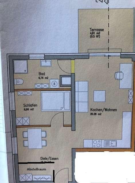 Erstbezug einer schönen zwei Zimmer Wohnung