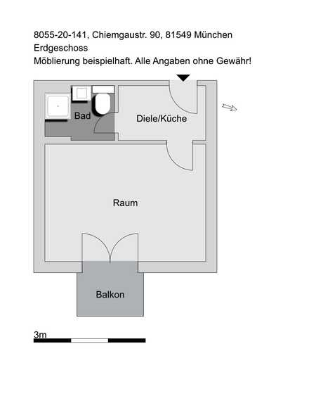 1-Zimmer-Appartement mit Balkon in München-Giesing in Obergiesing (München)