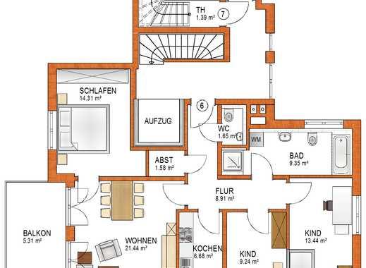 Schöne 4-ZKB Wohnung im 2. OG mit Balkon in Königsbrunn - EH 55 - schlüsselfertig