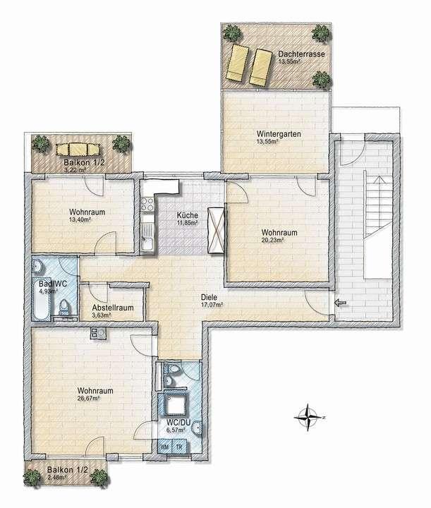 Ruhiges Laim: Schöne 3,5-Zi.-Wohnung mit offener Wohnküche