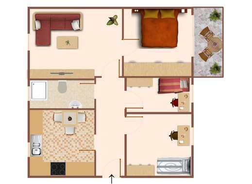 Gemütliche 4 Raum Wohnung mit Balkon