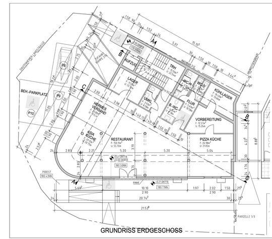 Grundriss Erdgeschoss - 1 zu 1