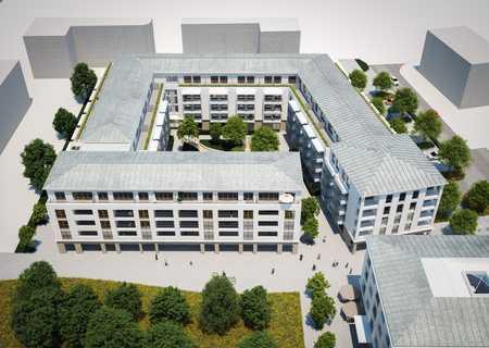 """Studentenwohnheim """"UNIKUM"""", """"Neue Mitte"""" des Campus Martinsried in Planegg"""