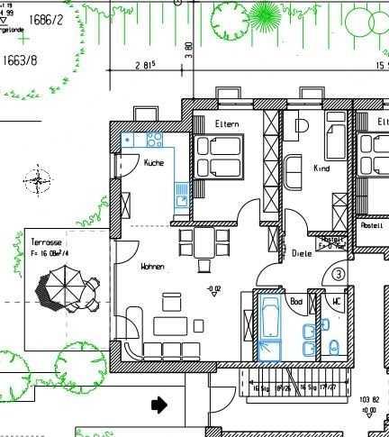 Ruhige Neubauwohnung in gehobener Ausstattung nähe Aichach in Aichach