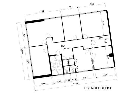 Grundriss Bürogebäude OG