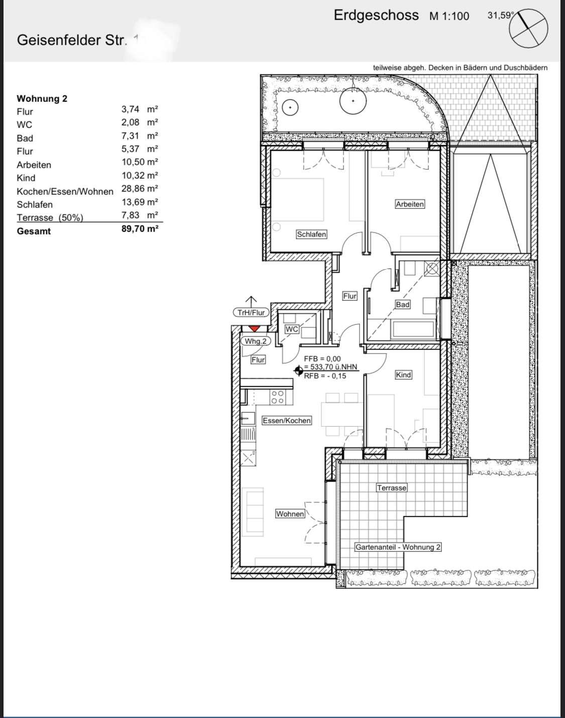 Neubau - Erstbezug: 4 Zimmer-Whg. mit Gartenterrasse, Gäste-WC und Fußbodenheizung in Laim (München)