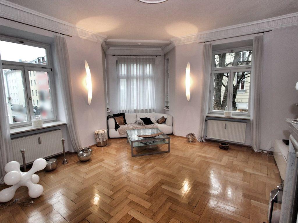 4-Zimmer-Altbau-Wohnung mit offenem Kamin und Top-EBK, München ...
