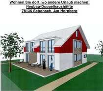 Neubau-Doppelhaushälfte in Schonach inkl Grundstück