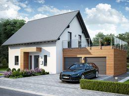 Haus Ansicht Eingang Garage