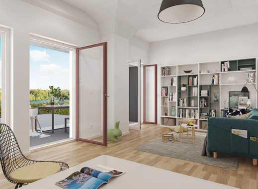 Wohnen direkt am Wasser! 3-Zimmer-Gartenwohnung mit herrlicher Terrasse und Denkmal-AfA