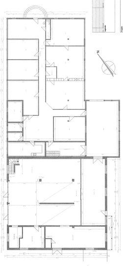Grundriss Bürogebäude und Hall