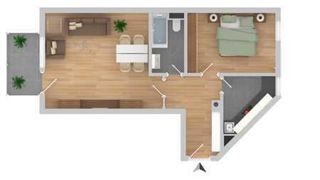 Helle 2 Zimmer Wohnung in Erding in Erding