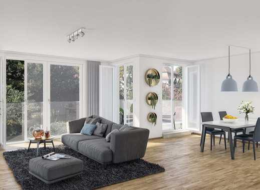 Neues Stadtleben im Grünen. Hochwertige 2-Zimmer-Erdgeschosswohnung mit heller Terrasse und Garten