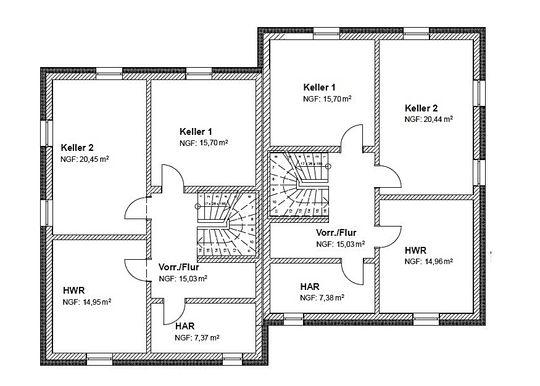 Nur noch 2 Häuser frei! Charlottenhöhe Doppelhaushälften inkl. Keller