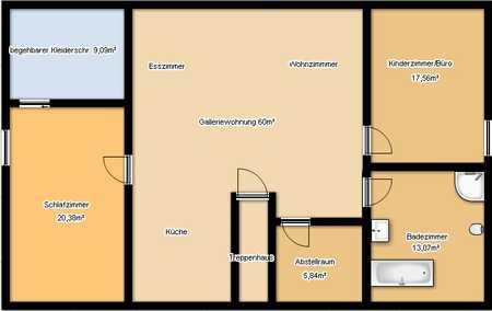 Preiswerte, geräumige und neuwertige 2,5-Zimmer-Dachgeschosswohnung mit Einbauküche in Schöllnach in Schöllnach