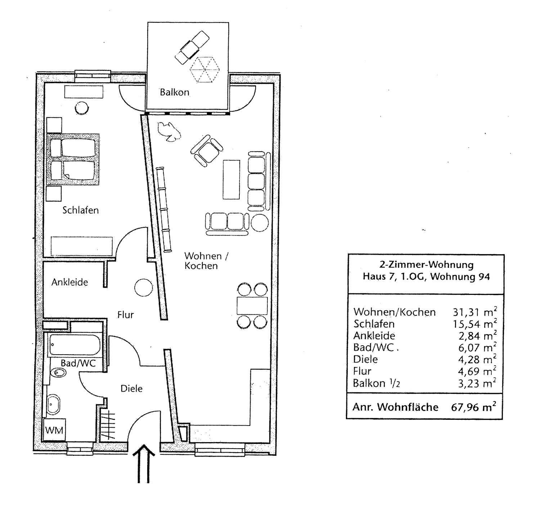 Moderne 2 Zimmer-Wohnung in Erlangen-Büchenbach provisionsfrei in
