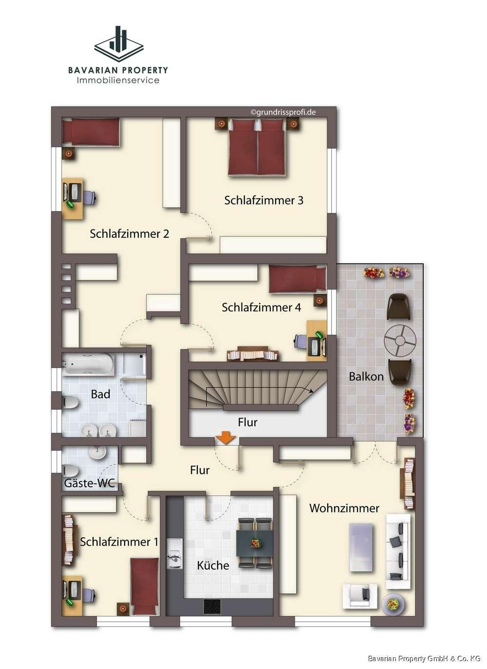 5-Zimmer Wohnung in Landau a.d. Isar in Landau an der Isar