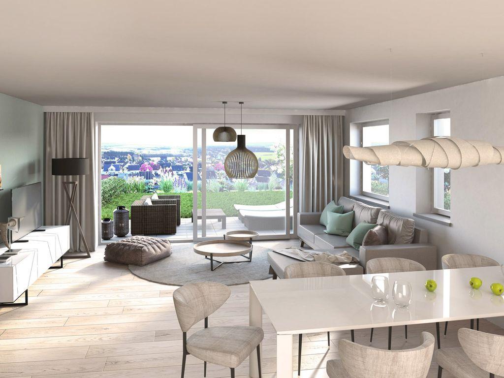 Moderne Doppelhaushälfte mit großzügigem Wohn-/Ess-/Kochbereich in ...