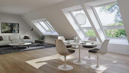 Moderne und helle Neubauwohnung mit Dachterrasse direkt am Englischen Garten in Schwabing (München)