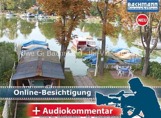 Berlin - Müggelheim: Wassergrundstück mit Bootsstegen - UWE G. BACHMANN