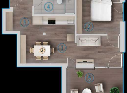 Exklusive 1 Zimmer Obergeschosswohnung