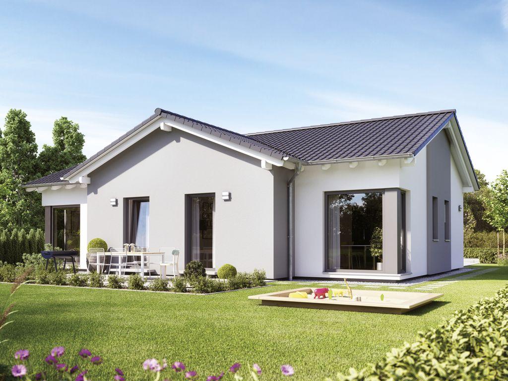solution 100 v5 schicker bungalow mit satteldach. Black Bedroom Furniture Sets. Home Design Ideas