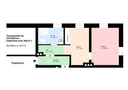 *Sanierte 2-Zimmer-Wohnung in Thalkirchen*möbliert*EBK*Bad mit Fenster* in Thalkirchen (München)