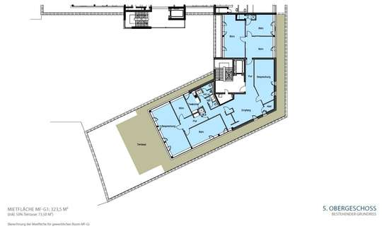 Grundriss 5. OG 323,5 m²