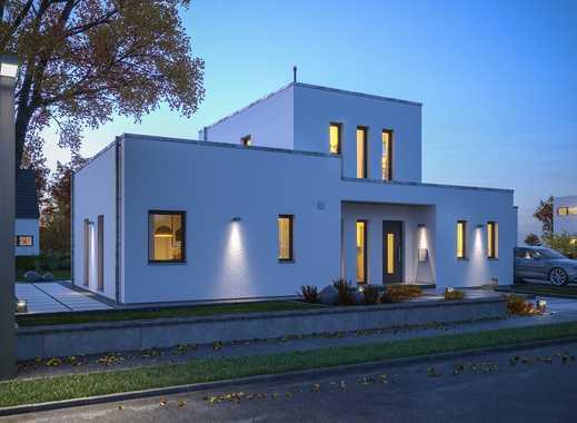 Haus (Flachdach, Bauhausstil, jede Menge Platz) sucht Baufamilie (kreativ, individuell, Macher)